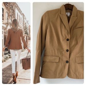 🏳️🌈VGUC- Camel Colored Rayon-Blend Blazer